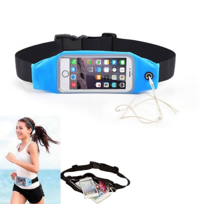 Outdoor Touch-Screen Waist Bag for IPHONE 6 PLUS / 6S PLUS - Blue