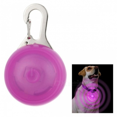 Pink Light Clip-on LED Light Collar Pendant for Pet Dog Cat - Pink