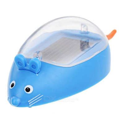 Spoof Little Mouse Style Solar Powered Educational Toy for kid - Blue