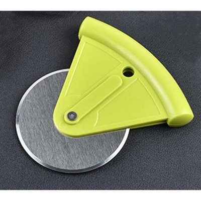 Stainless Steel Blade Pizza Wheel Cutter Roller Knife Tool - Green