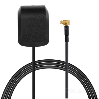 Universal Male Right Angled MCX Connector GPS Antenna - Black
