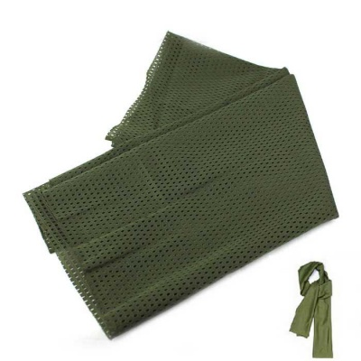 Breathable Polyester Taffeta Scarf - Army Green