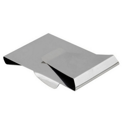 Stainless Steel Card Holder Money Clip - Silver