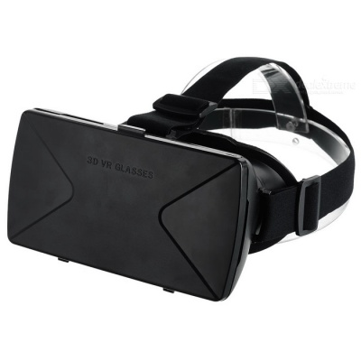 "VR BOX Virtual Reality 3D Helmet Glasses Video Glasses for 3.5-6.0"" Mobile Phones - Black"