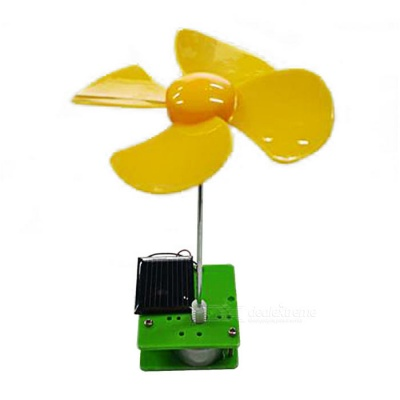 Rotating Flower Solar Powered Educational Toy DIY Kit - Multi-Color
