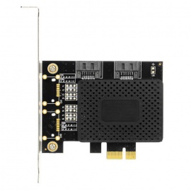 Desktop PCI-E to Dual SATA 3.0 Expansion Adapter Card - Black