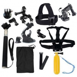 18-in-1 Sports Camera Accessories Kit for GoPro Hero 4 / 3 / 3+ / SJ4000 / SJ5000 / SJCam / Xiaoyi