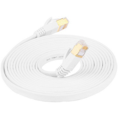 Cat.7 RJ45 10 Gbps / 600 MHz Male to Male Internet Network High Speed Ethernet Cable - White (200cm)