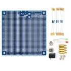 Experiment PCB Board Breadboard Easy Bridged Special Pad with Switch / DC Jack / LED for Arduino DIY