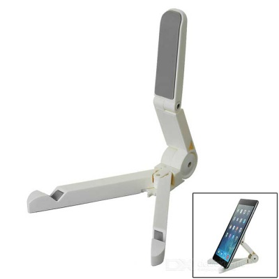 Universal Portable Fold-up Tablet PC & Phone Desktop Holder Stand for IPAD / IPHONE + More - White