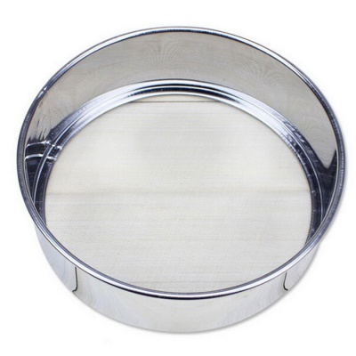 30 Mesh Ultra-Fine Screen Kitchen Flour Filtering Sieve - Silvery Grey
