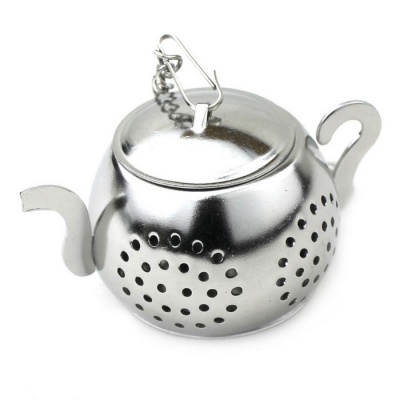 Stainless Steel Chain Round Kettle Tea Strainer