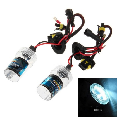 H1 35W 8000K White with Blue Light HID Xenon Lamp for Car / Motorcycle (12V / 2 PCS)