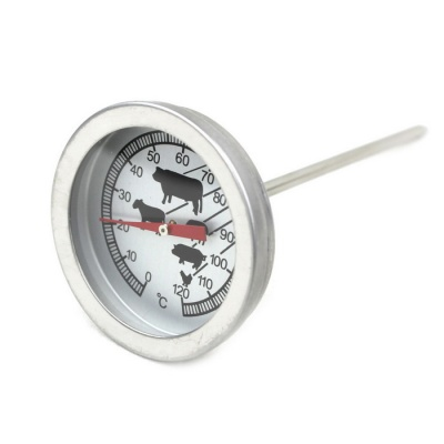 Food Meat Beef Barbecue 0~120'C Food Probe / Coffee Milk Thermometer - Black + Silver + Multicolor
