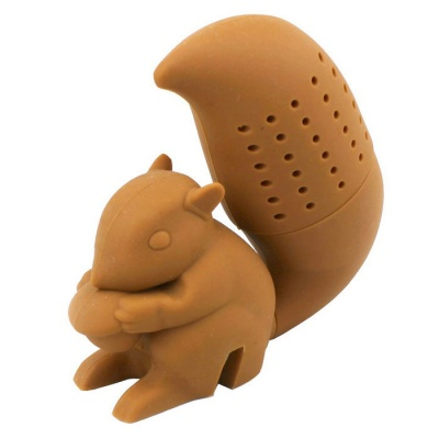 Easy Interesting Squirrel Shape Silicone Tea Strainer Bag - Brown