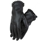 Women's Driving Touch Screen Warm PU Leather Gloves - Black (Pair)