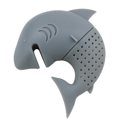 Easy Interesting Shark Style Silicone Tea Strainer Bag - Grey