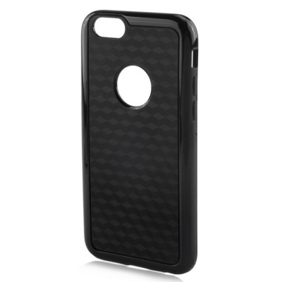 Stylish 3D Carbon Fiber Style Protective Back Case for IPHONE 6 / 6S - Black