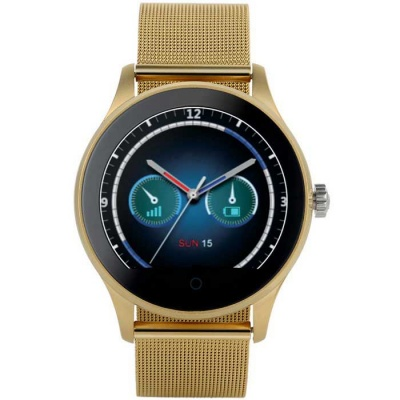 K88H Round Screen Strap Smart Watch w/ Sleep Monitoring - Golden