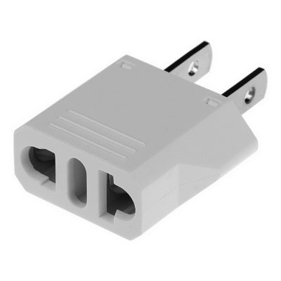 EU / AU / Italian Socket to US Plugs AC Power Adapter (125V / 250V)