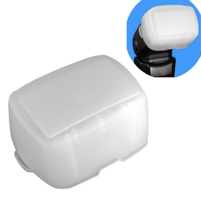 Sidande Softbox Flash Diffuser Bounce Dome for Nikon Speedlite SB900 Canon 580 Flashgun - White