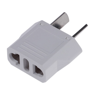 US / EU / Italy Plug Socket to AU Plug AC Power Adapter - White (125V/250V)