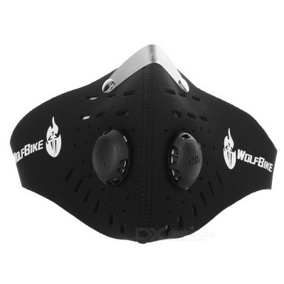 WOSAWE BC308 Activated Carbon Breathable Cycling Mask - Black