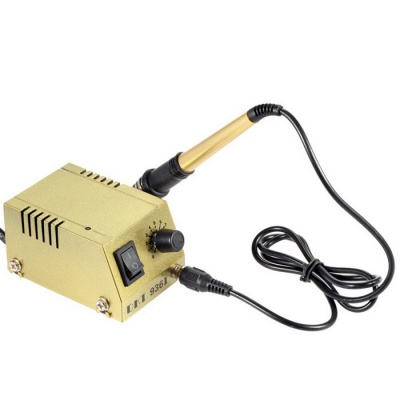 Mini Soldering Station Solder Iron Welding Equipment - Golden