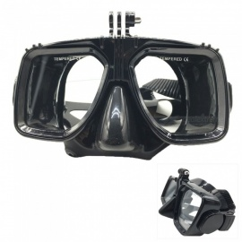 Camera Diving Glasses Mask for GoPro Hero 4 / Xiaomi Xiaoyi - Black