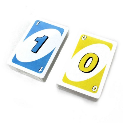 UNO Jenga Number Card Toy Board Game - Multi-Colored