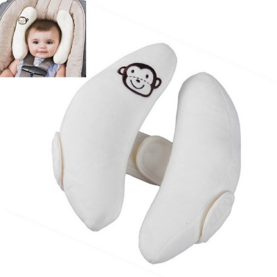 ZIQIAO CZ-58 Infant & Child Safety Car Seat Head Pillow - White