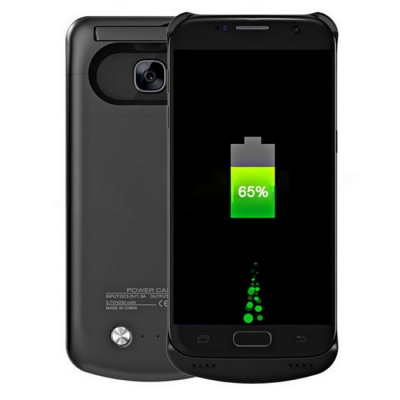4000mAh Power Bank Back Battery Case for Samsung Galaxy S7 - Black