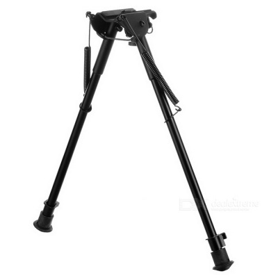 "13"" Aluminium Alloy Stretchable Gun Bipod Mount Holder - Black"
