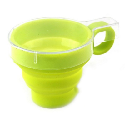 3-Layer Telescopic Foldable Cup - Fluorescent Green