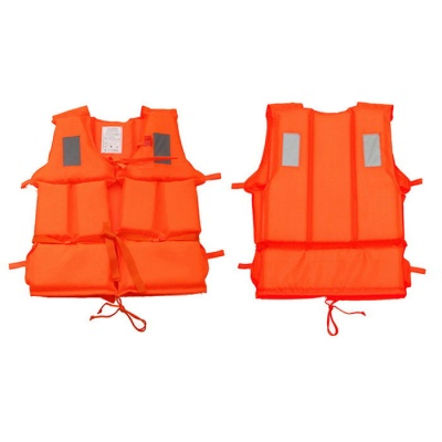 AoTu AT9017 Outdoor Survival Life Jacket with Whistle - Orange Red