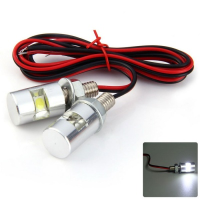 Qook White Bicycle Motorcycle LED License Plate Light (12V / 2PCS)
