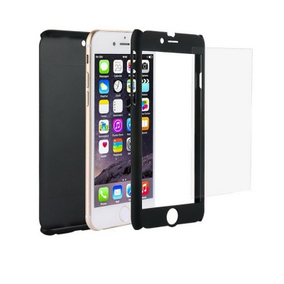 Ultra Slim Full Body Coverage PC Case for IPHONE 6 / 6S - Black