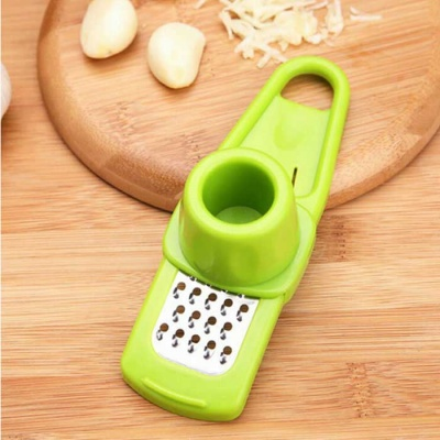 ZIQIAO Garlic Grater Slicer w/ Finger Protector (Random Color)