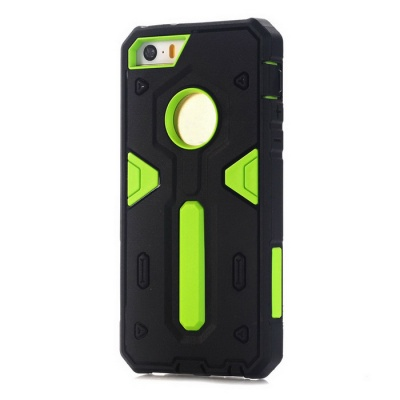 TPU + PC Back Case for IPHONE SE / 5S / 5 - Black + Green