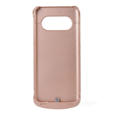 4200mAh Li-Polymer Battery Back Case w/ Stand for Samsung S7 - Golden