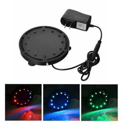 Water Resistant Underwater Colorful LED Fishing Light - Black(US Plugs)