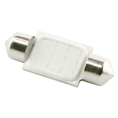 HONSCO Festoon 36mm 3W 200lm COB Blue Car Light - White (DC 12V)
