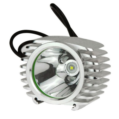 IN-COLOR External Motorcycle 10W LED 1000lm Spotlight - Grey (8~85V)