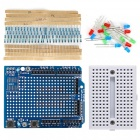 Mini Breadboard + Prototype Shield Kit w/ Resistor / LED for Arduino