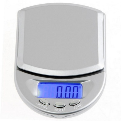 "2.5"" LCD Mini Digital Pocket Jewelry Scale - Silver (200g / 0.01g)"