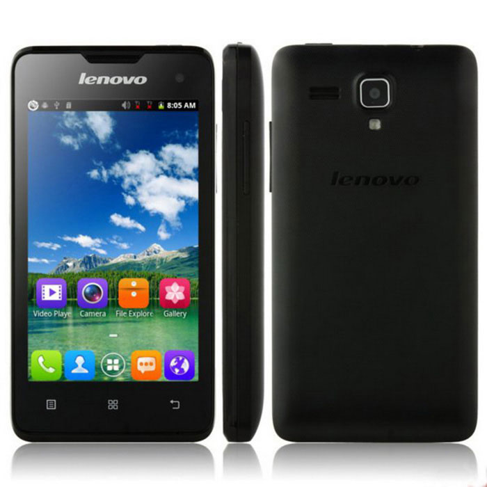 """Lenovo A396 4.0"""" Android 2.3 Quad Core Cell Phone  - Black (US Plugs)"""