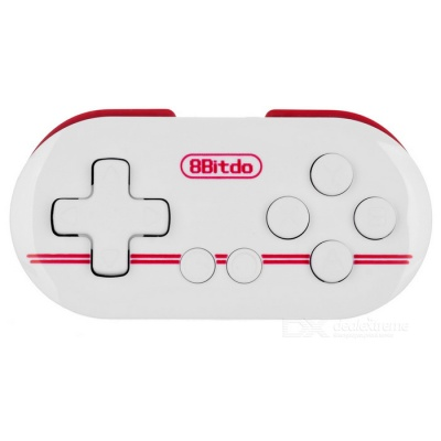 8Bitdo Zero Bluetooth V3.0 Wireless Gamepad - White + Dark Red