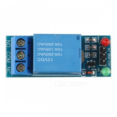 12V 3mA 1-Channel Low Level Trigger Relay Module - Blue