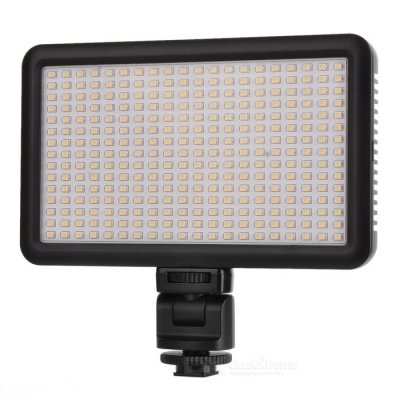 300-LED Photographic Lamp Outdoor Video Shooting Lamp - Black