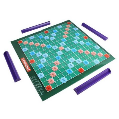 English Letters Words Table Game - Purple + White + Multi-Colored